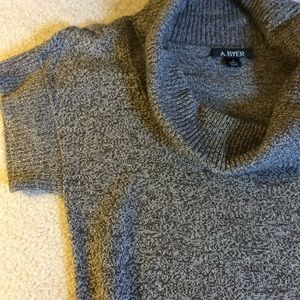 A. Byer Dresses - Brown Tweed Cowl Neck Sweater Dress